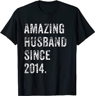 Amazing Husband Since 2014 5 Years Wedding Anniversary Shirt