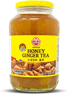 Ottogi Honey Ginger Tea 35 oz, Ginger with Honey, 35 Ounces, One Bottle (1Kg)