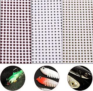 500pcs Fishing Lure 3D Eyes Waterproof Fishing Eyes Baits DIY Tackle Accessory 3/4/5mm(4mm-Red)