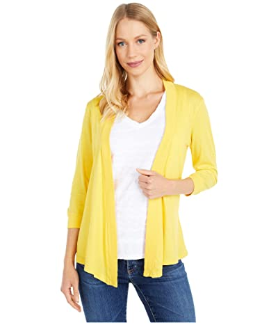 Mod-o-doc Supreme Jersey Mid Sleeve Cardigan (Limone) Women