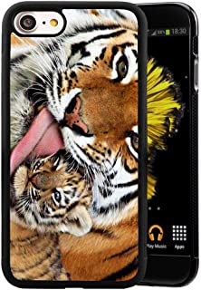 iPhone 7 8 Case Hard PC for Back Anti-Scratch Bumper Tiger Wallpaper Case, Sturdy and Protective Cushion Cover for Cell Phone iPhone 7 8