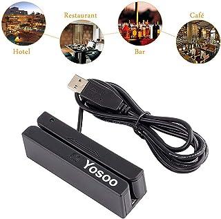 Yosoo USB Mini Credit Card Msr90 3 Triple Tracks Hi-co Magnetic Stripe Strip Credit Card Swipe Speed Reader Swiper for POS...