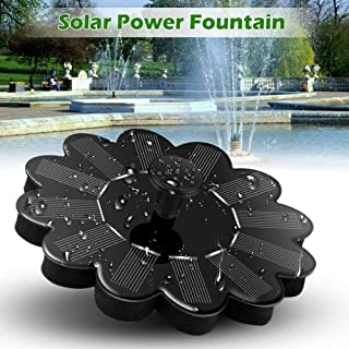 H-ONG Floating Fountain Pump Outdoor Water Solar Panel Pool Solar Powered Fountain Garden Water Pump for Fountain for Small Pond,Bird Bath