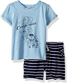 Splendid 男婴 Ca 地图 T 恤套装