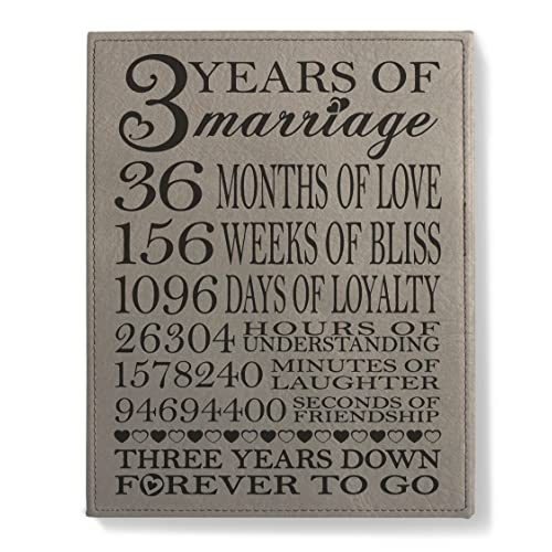 3rd Wedding Anniversary Gifts Amazon Com