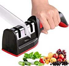 Knife Sharpener, Necomi مبراة سكين, Kitchen Knife Sharpener for Sharpening and Polishing Kitchen Knives with Easy Manual S...