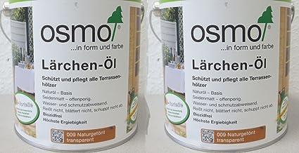 Osmo Spar-Set 2x Lärchen-Öl 009, 2,5l, schützendes Terrassenöl