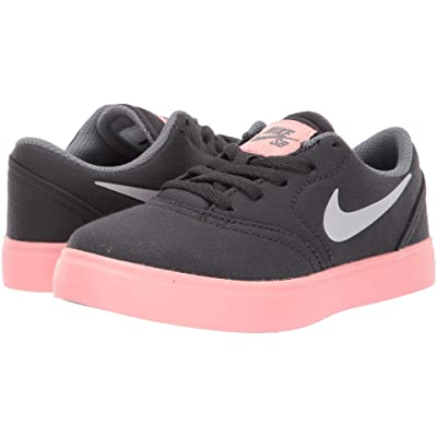 Nike SB Kids Check Canvas (Little Kid) (Anthracite/Vast Grey/Cool Grey) Boys Shoes