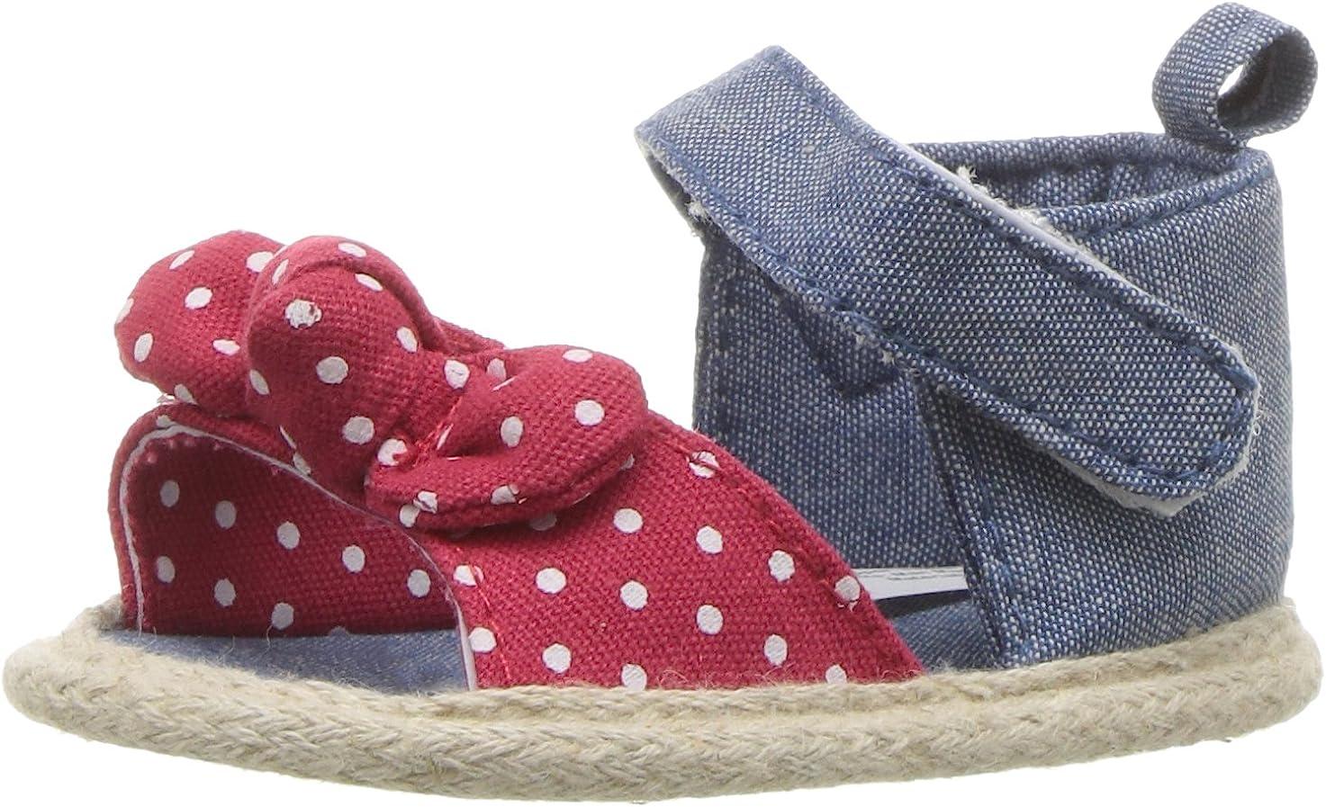 Luvable Friends Baby Girl Bow Sandal