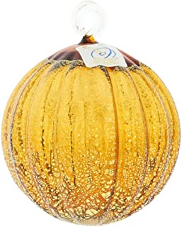 GlassOfVenice Murano Glass Medium Christmas Ornament - Golden Brown