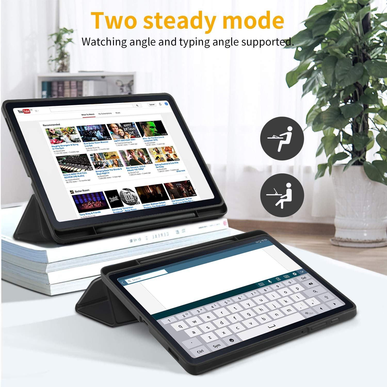 EasyAcc Custodia Compatibile con Samsung Galaxy Tab S6 Lite 10.4 con Vetro Temperato-Ultra Sottile con Cover Leggero Supporto in Pelle PU Case Compatibile con Tablet Samsung Tab S6 Lite 2020,Blu Navy