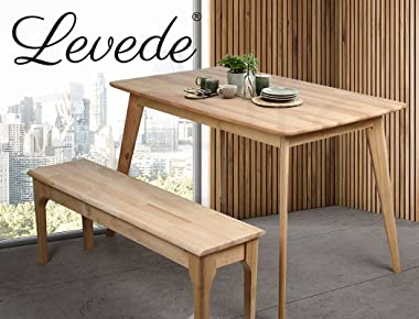 Levede Dining Chairs Bench Chair Seat Wooden Kitchen Outdoor Garden Patio Chair