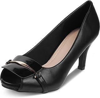 tresmode Women Fashion Casual Slip-on Pumps Peeptoes