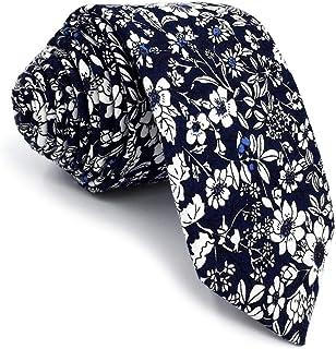 Corbata 100/% seda azul Fetchin Bulldog para hombre Perro y huesos Animal Skinny Corbata estrecha
