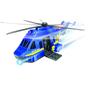 Dickie Spielzeug 203563573 Action Series Rescue Copter Elicottero con luci e Suoni