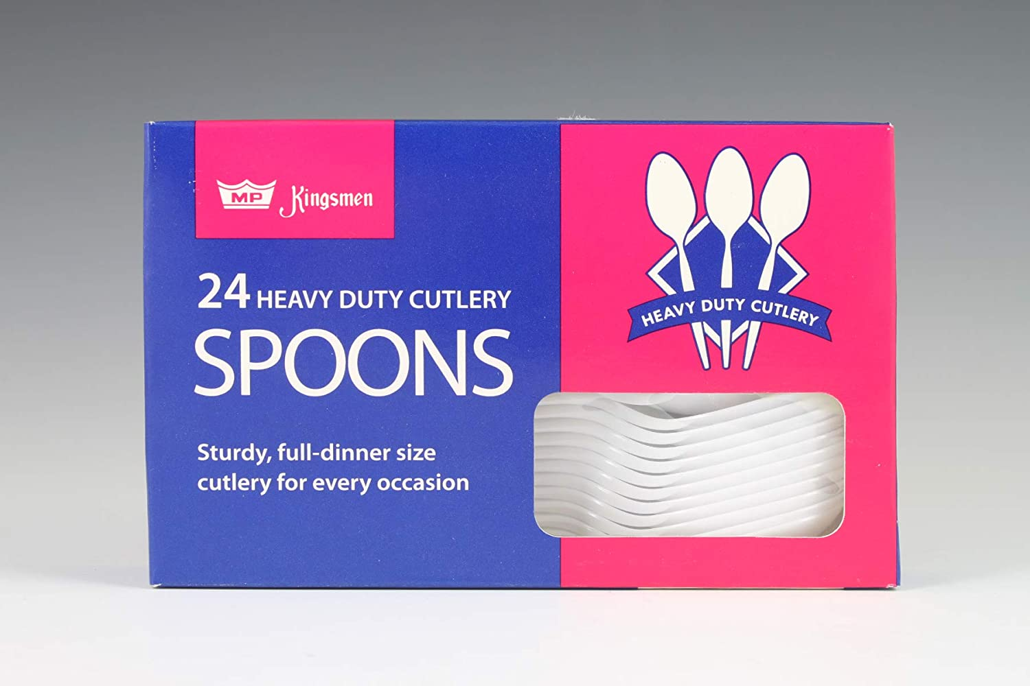 Plastic Spoons | White | Pack of 24: Toys & Games