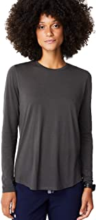 FIGS Ridiculously Soft Long Sleeve Underscrub Shirt for Women — Modern Relaxed Fit Crewneck Shirt