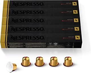 Nespresso Capsules OriginalLine, Volluto Decaffeinato Mild Roast Coffee, 50 Count Coffee Pods, Brews 1.35 oz, 10 Count (Pa...