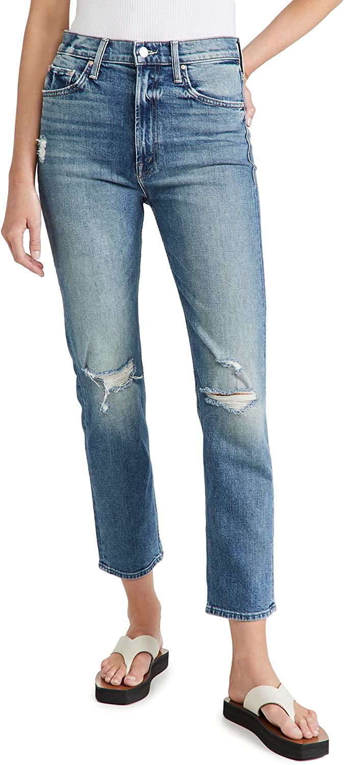 MOTHER Women's High Waisted Rider Ankle Jeans