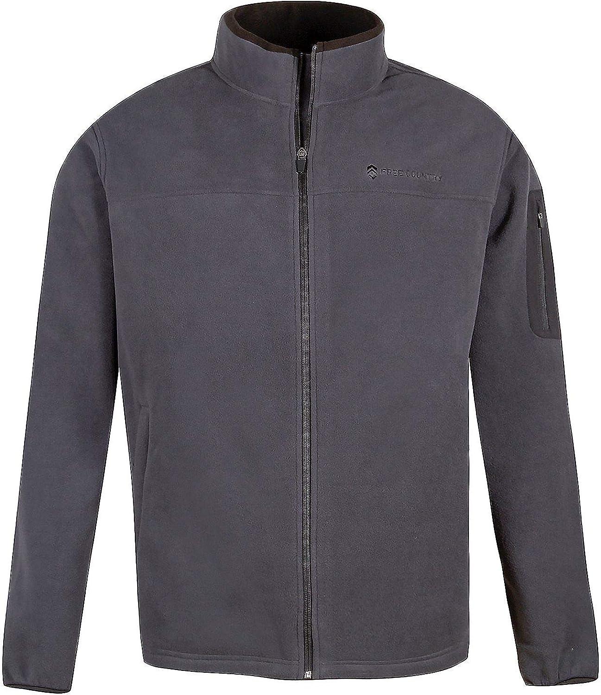 Free Country Mens Microtech Full-Zip Fleece Jacket (XXL, Deep Charcoal)