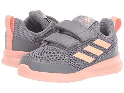 adidas Kids AltaRun CF (Toddler) (Grey/Glow Pink) Girls Shoes