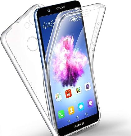 COPHONE® Coque Transparente 360 Compatible Huawei P Smart. Protection intégrale Avant Souple + arrière Rigide. Housse Tactile 360 degres Anti Choc.