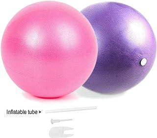 مینی ورزش بار توپ برای یوگا ، پیلاتس ، تمرینات پایداری بدنسازی بدنسازی ضد انفجار و توپ های مقاوم در برابر لغزش با نی های بادی