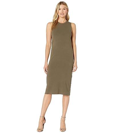 LAUREN Ralph Lauren Sleeveless Midi Dress (Sage Moss) Women