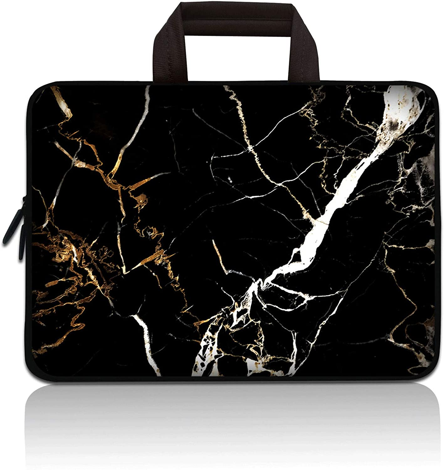 11 11.6 12 12.5 inch Laptop Carrying Bag Chromebook Case Notebook Ultrabook Bag Tablet Cover Neoprene Sleeve Compatible with Apple MacBook Air Samsung Google Acer HP DELL Lenovo Asus (Black Marble)