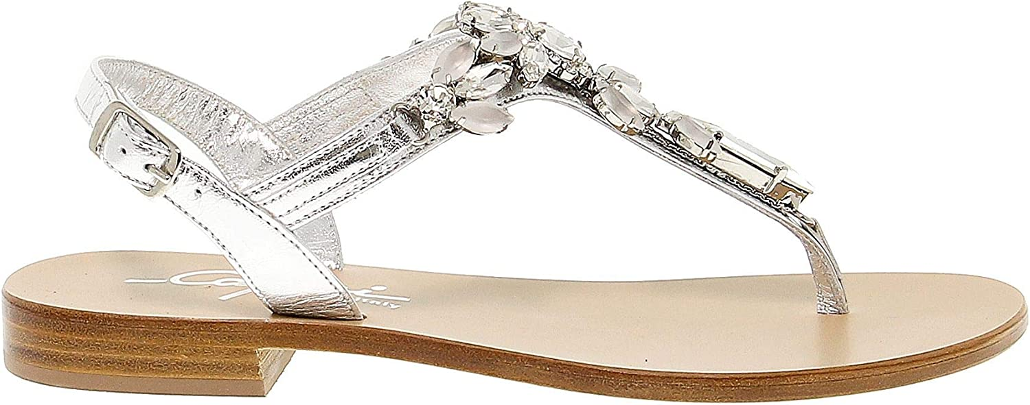 GI CAPRI Women's SPO12SILVER Silver Leather Sandals