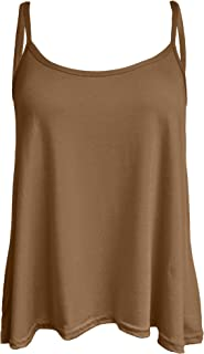 bcb22f153c678a Re Tech UK Ladies New Camisole Cami Plain Strappy Swing Vest Top Flared  Sleeveless