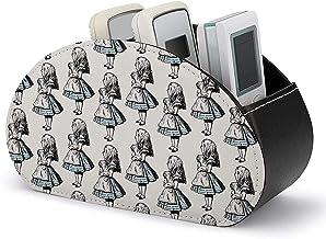 Avec 5 compartiments - Boîte de rangement pour support de télécommande TV avec 5 compartiments - Petit cuir PU Alice au pa...