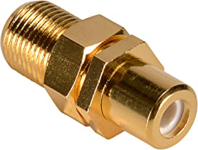 Parts Express Gold RCA Female to F Female with Nut Hex Type