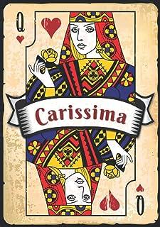 Carissima: Taccuino A5 | Nome personalizzato Carissima | Regalo di compleanno per moglie, mamma, sorella, figlia ... | Des...