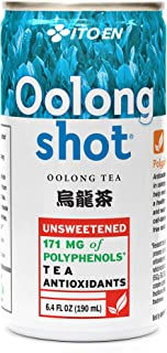 Ito En Oolong Shot 6.4 Ounce (Pack of 30) Unsweetened Zero Calories Antioxidant Rich Brewed with Whole Leaf Tea Caffeinated High in Vitamin C and Polyphenols