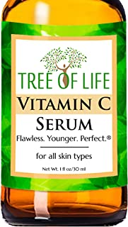 Best Vitamin C Serum for Face - Anti Aging Facial Serum - 1oz Review