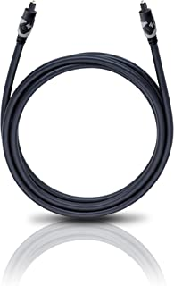 Oehlbach Easy Connect Opto 100   Optisches Digitalkabel mit Toslink Stecker   Geeignet für Soundbar, Blu Ray Player & PS4 1 Meter   schwarz/grau