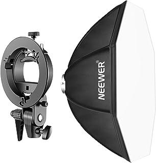 Neewer 80x80-centímetro Speedlite Octagonal Softbox con Soporte de Brazo Tipo-S Montaje Bowens para Nikon Canon Sony Pentax Olympus Panasonic y Otros Flashes Estroboscópicos