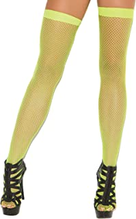 9223b7f18 Hot Spot Women s Fishnet Thigh High Stockings Neon Orange