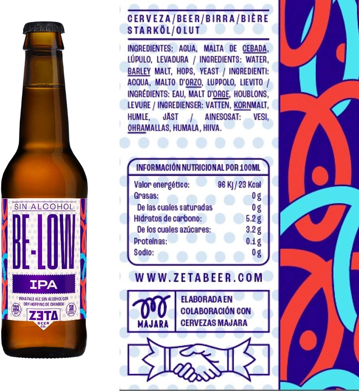 BELOW IPA SIN ALCOHOL. Pack 6x33cl de cervezas artesanas SIN ALCOHOL para Disfrutar de Todo el Sabor y Aroma de las Mejores IPA
