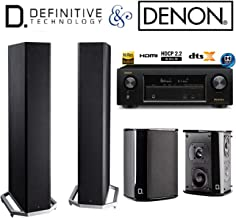 Denon AVR-X1300W Receiver Bundle with Definitive Technology (2) BP9020 and (2) SR9040