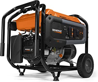 Generac 7690 GP6500 Portable Generator, Orange, Black