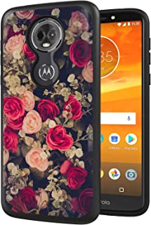 Moto E5 Plus Case, Moto E5 Supra Case, ANLI [Fashion Flowers Design] Drop Protection Hybrid Dual Layer Armor Protective Case Cover for Girls and Women 2018 Release (Flowers)