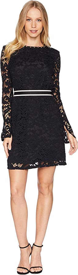 Stevie Lace Dress w/ Embroidery