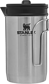 Stanley Adventure All-In-One Boil + Brew French Press , Silver , 32oz