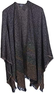 """Women's Ruana Wool 54"""" x 72"""" Made in Ireland"""