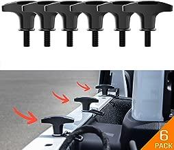 GPCA Tie-Down Anchor/T-Handle Quick Removal Thumb Screw Bolts Set for Jeep Wrangler JL/JLU/JK/JKU Hard Top Cargo Deck, Designed in USA … (JL/JLU Anchor 6-Pack)