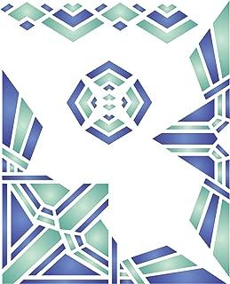 Art Deco Stencil (Size: 6.5