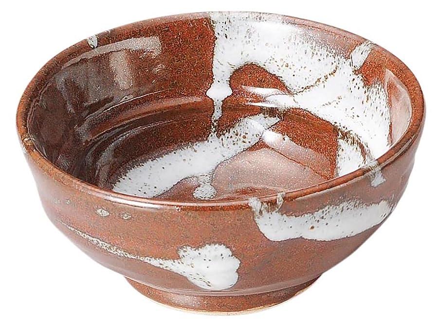 油しわ格差三陶 萬古焼 つけ麺取鉢 飴釉流し 直径12cm 16188