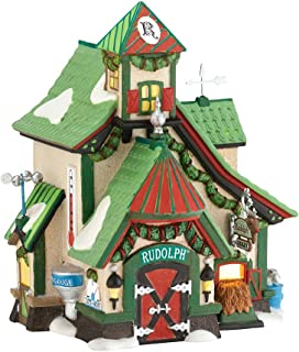 Department 56 North Pole Village Reindeer Stables Rudolph Lit House, 6.61 inch